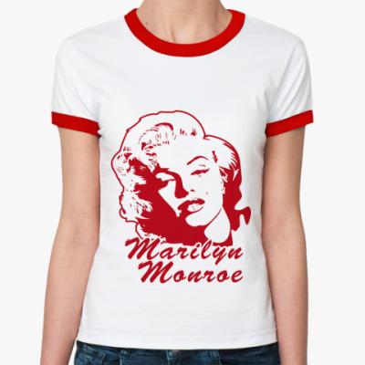 Женская футболка Ringer-T   Monroe