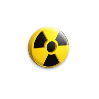 Значок 25мм radioactiviti