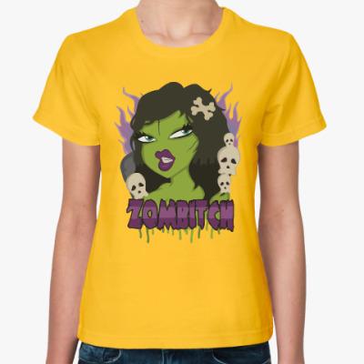 Женская футболка Зомби-стерва