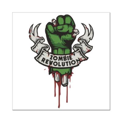 Наклейка (стикер) Революция Зомби