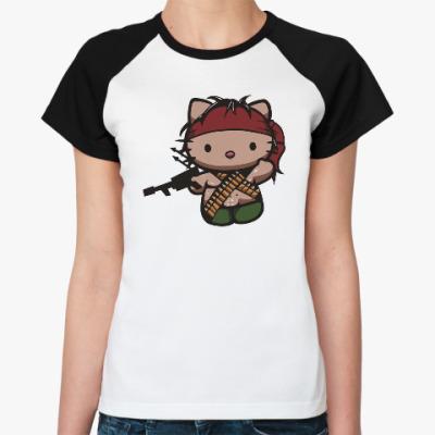 Женская футболка реглан Китти Рэмбо