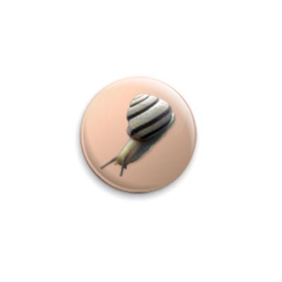 Значок 25мм  25 мм ``Улитка``