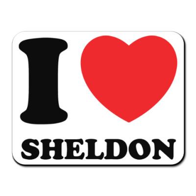 Коврик для мыши I Love Sheldon