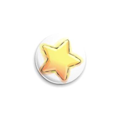 Значок 25мм  Звездочка