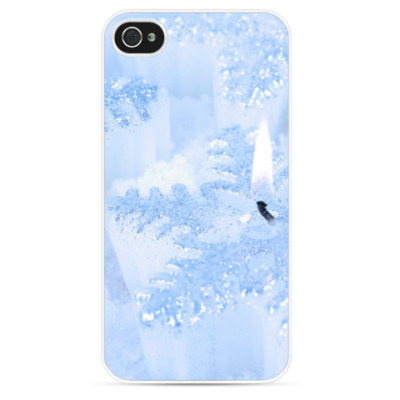 Чехол для iPhone Свечи-снежинки