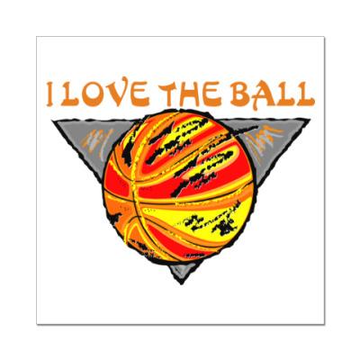 Наклейка (стикер) I Love The Ball