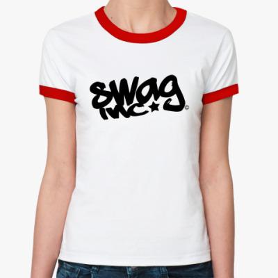 Женская футболка Ringer-T SWAG