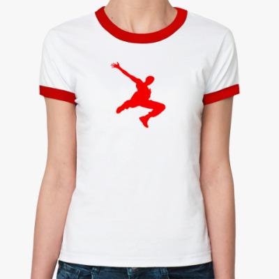 Женская футболка Ringer-T  Parkour