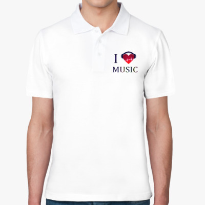 Рубашка поло С любовью к музыке