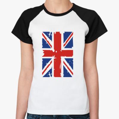 Женская футболка реглан Британский флаг