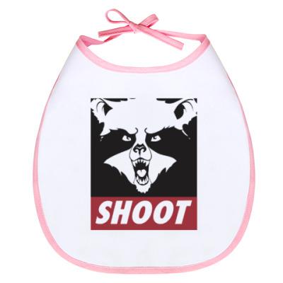Слюнявчик Raccoon Shoot