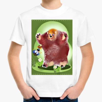 Детская футболка Мишка с медом