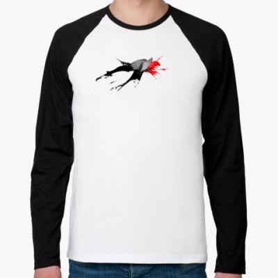Футболка реглан с длинным рукавом bird