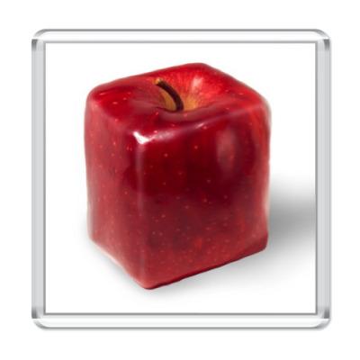 Магнит Яблоко-куб