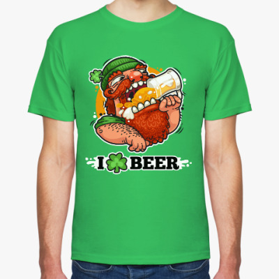 Футболка Я люблю Пиво (I love Beer)