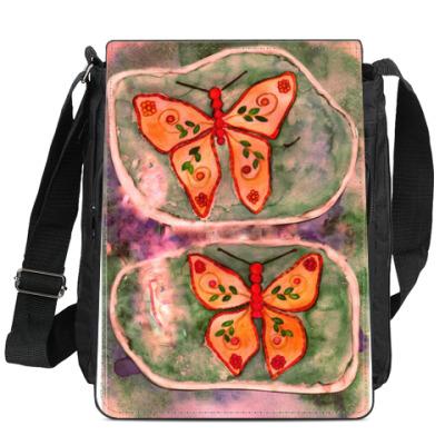 Сумка-планшет Бабочки