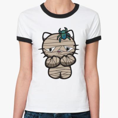 Женская футболка Ringer-T Китти Мумия