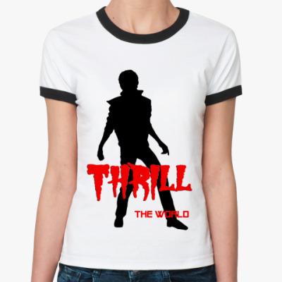 Женская футболка Ringer-T Trill The World