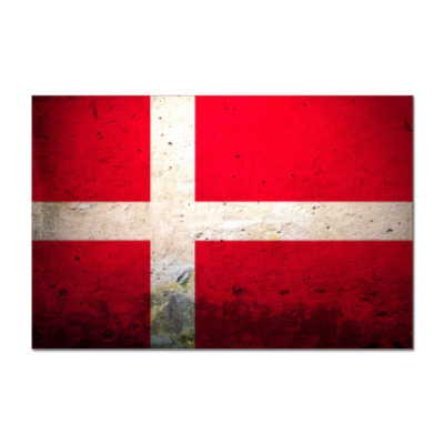 Наклейка (стикер)  'Датский флаг'
