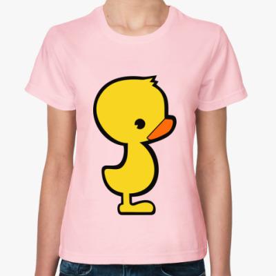 Женская футболка Уточка