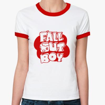 Женская футболка Ringer-T FOB sign2  Ж (б/к)