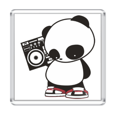 Магнит Панда с магнитофоном