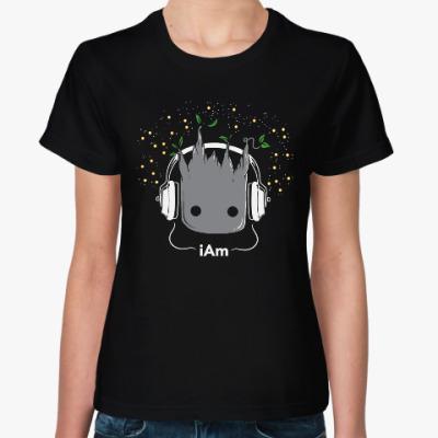 Женская футболка Грут