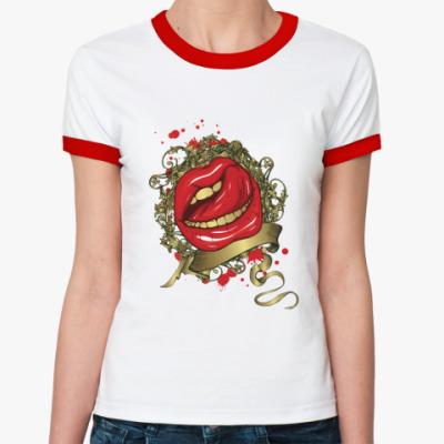 Женская футболка Ringer-T Губы