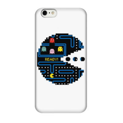 Чехол для iPhone 6/6s Pac-Man. PacMan. ПакМан. ПакМен. Pixels. Ready!