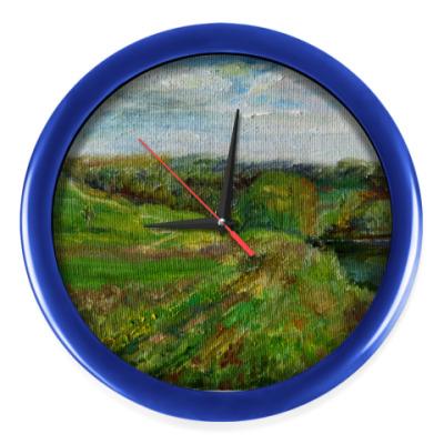 Настенные часы 'Зеленые поля'
