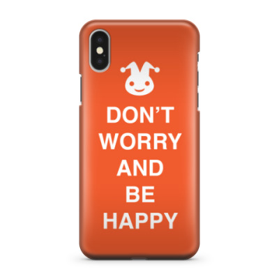 Чехол для iPhone X Don't worry and be happy
