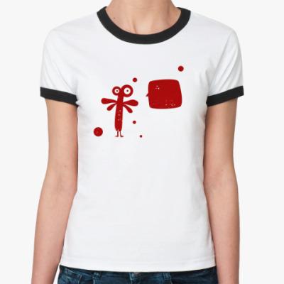 Женская футболка Ringer-T doodle monster