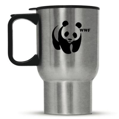 Кружка-термос WWF. Панда с лого