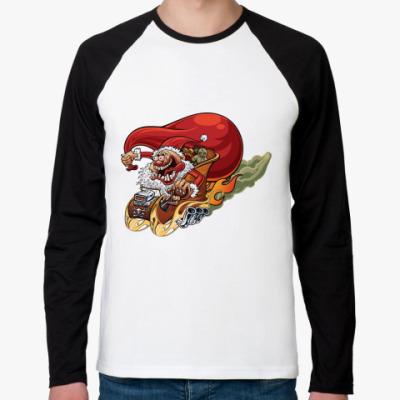Футболка реглан с длинным рукавом Crazy Santa