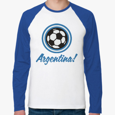 Футболка реглан с длинным рукавом Аргентина
