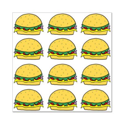 Наклейка (стикер) Tasty Burgers
