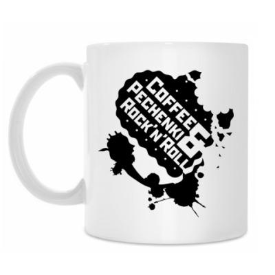 Кружка Coffee Pechenki Rock'n'roll