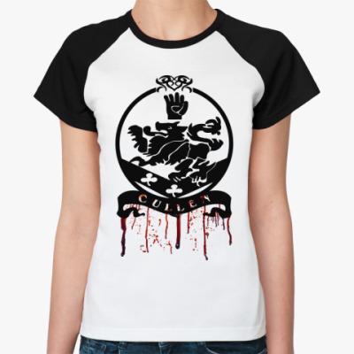 Женская футболка реглан Bloody Cullen emblem