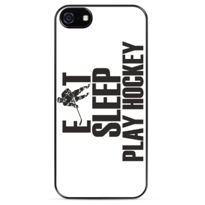 Чехол для iPhone Eat Sleep Hockey