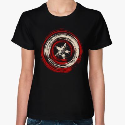 Женская футболка Щит Капитана