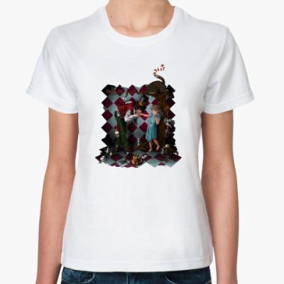 Классическая футболка Алиса и Шляпник.