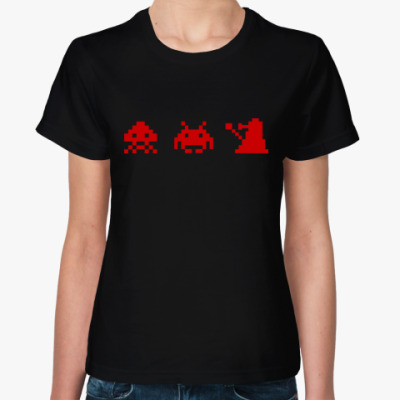Женская футболка Dalek & Space Invaders