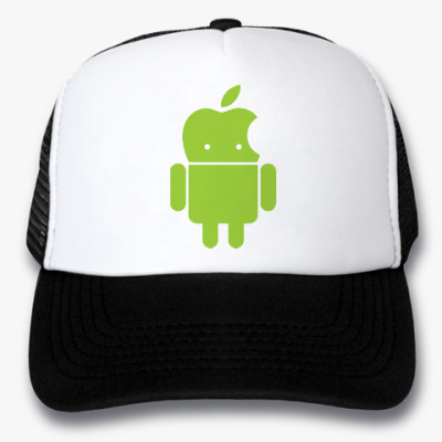 Кепка-тракер Андроид голова-яблоко