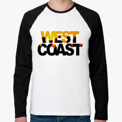 Футболка реглан с длинным рукавом West Coast