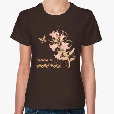 Женская футболка Возвращение к природе