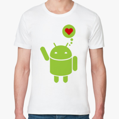 Футболка из органик-хлопка Love Android