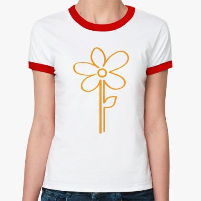 Женская футболка Ringer-T Цветок