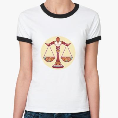 Женская футболка Ringer-T    Весы
