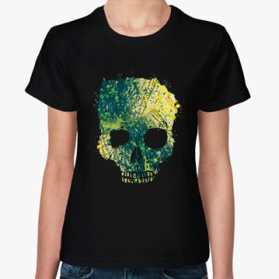 Женская футболка Токсичный череп