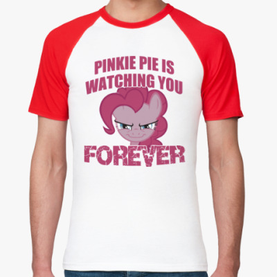 Футболка реглан Пинки Пай наблюдает за тобой